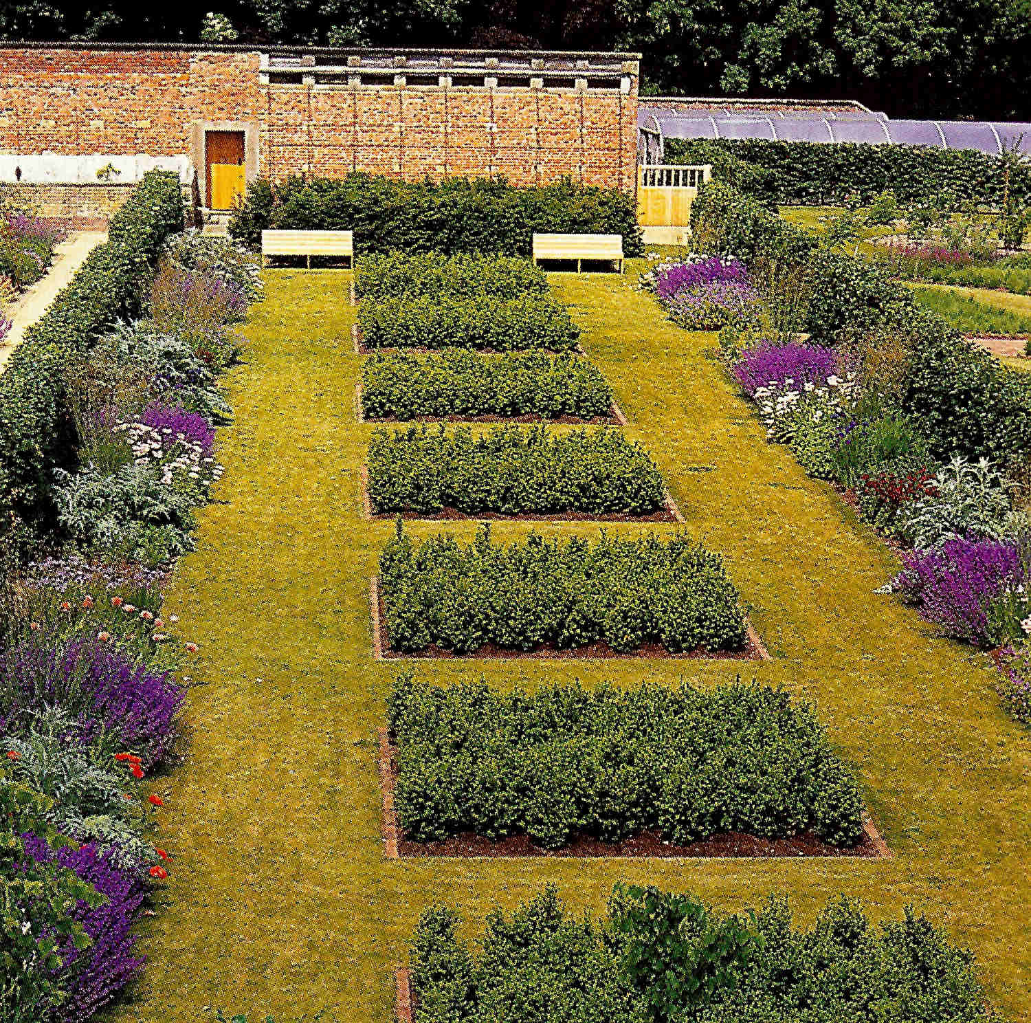 walled gardens - the Spring box garden in the Scampston walled garden, Yorkshire, England - House & Garden via Atticmag