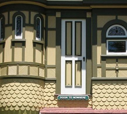 winchester house - Victorian door to nowhere - via atticmag