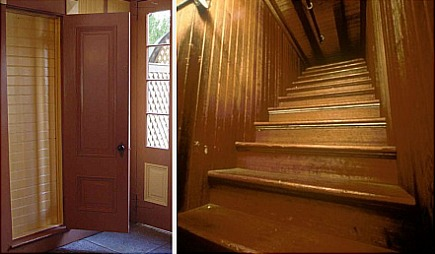 winchester house - staircase - via atticmag