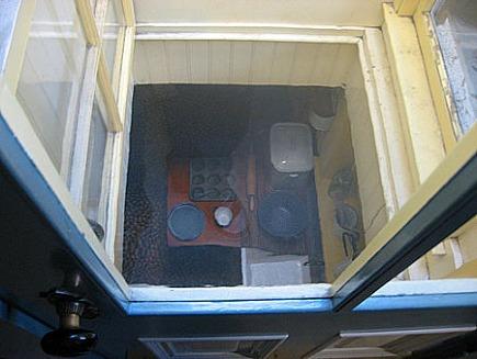 winchester house - one of 52 floor skylights - via atticmag
