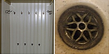 winchester house - the number 13 was reflected by coat hooks and drains - via atticmag