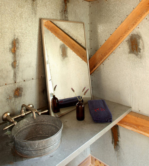 Merveilleux My List Of Attractive And Affordable Building Materials Includes Steel  Bucket Bathroom Sinks.