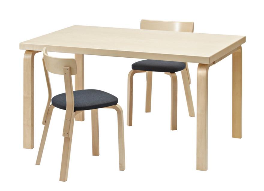 designer furniture - Aalto table 82, 1932, birch veneer with birch top - hive modern via atticmag