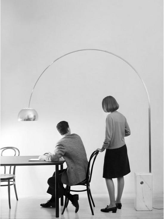 designer furniture - Arco floor lamp, 1962 - hive modern via atticmag