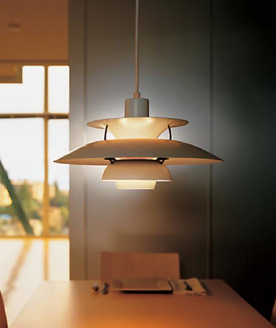 designer furniture - Poul Heningsen PH5 Pendant Lamp, 1958 - design within reach via atticmag
