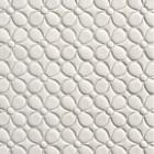 white mosaic tile - Tilt Collection Daisy mosaic in white gloss - Walker Zanger via Atticmag