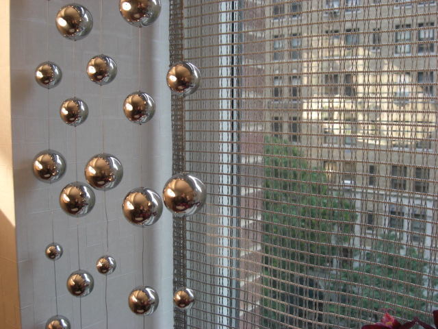 inspired design showhouse - metal mesh shade in study by Greg Lanza - Atticmag