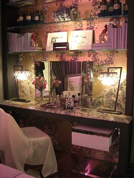 inspired design showhouse - granite and glass built in dressing table by Bradley Stephens - Atticmag