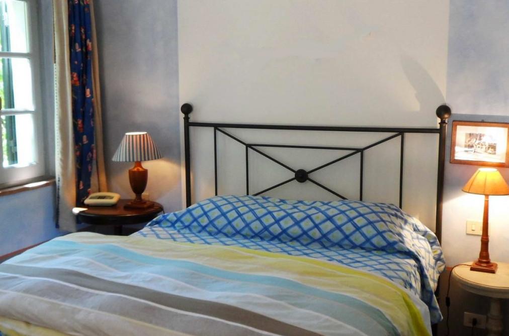 villa - room with Designer's Guild textiles at Sette Querce albergo, San Casciano dei Bagni, Italy - Sette Querce via Atticmag