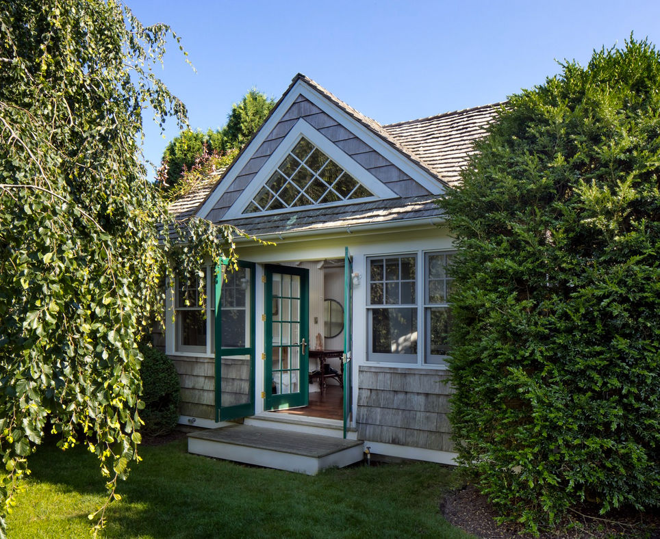 DeRose Windmill Cottage - entry to the two-bedroom guest house of a historic Victorian house with attached windmill - Brown, Harris Stevens via Atticmag