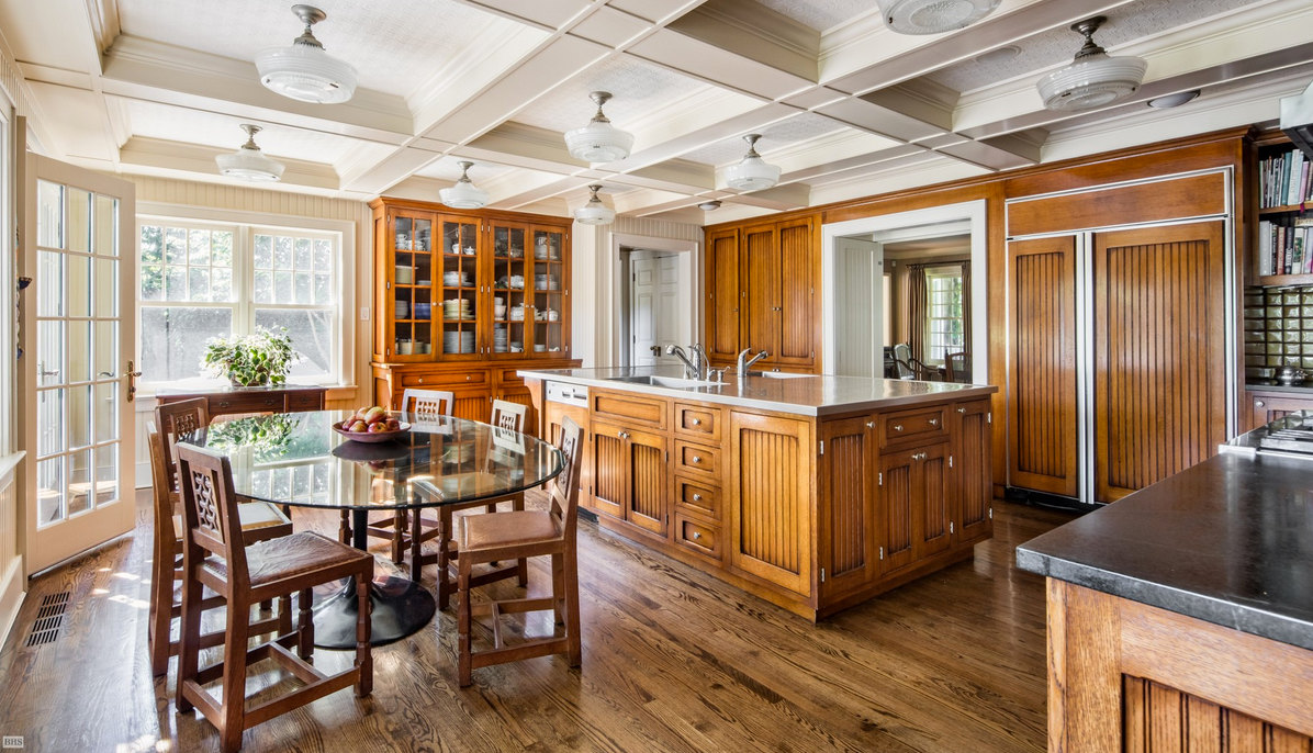 DeRose Windmill Cottage - kitchen of the historic Victorian house with attached windmill - Brown, Harris Stevens via Atticmag