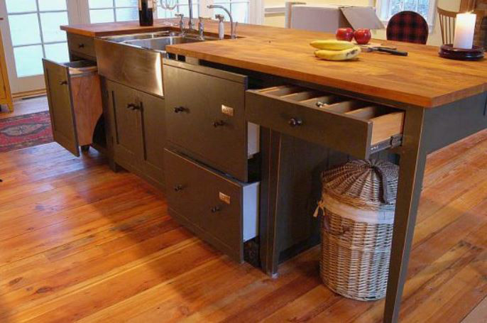 Dark Gray Shaker Cabinets   Shaker Style Kitchen With Dove Gray Painted  Island And Multiple