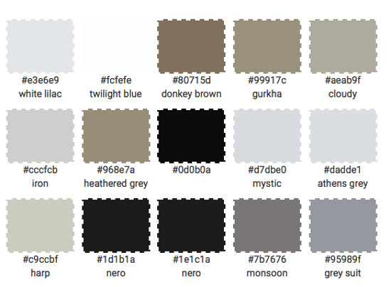 nordic color kitchen - palette for white taupe and black kitchen with patterned backsplash - Atticmag