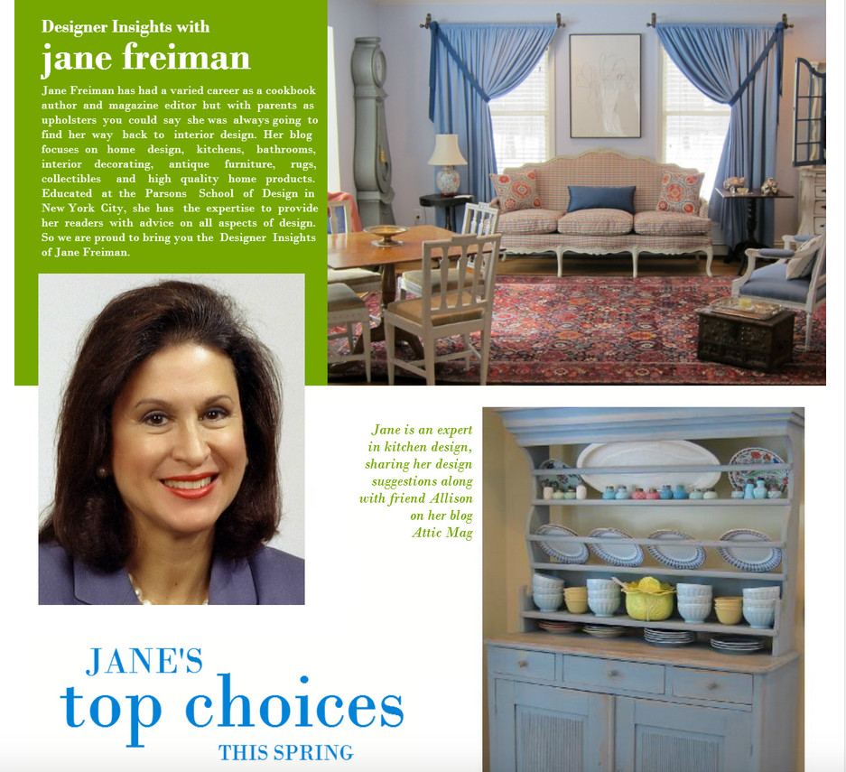 Interior designer and Atticmag.com editor Jane Freiman is interviewed about her home design ideas
