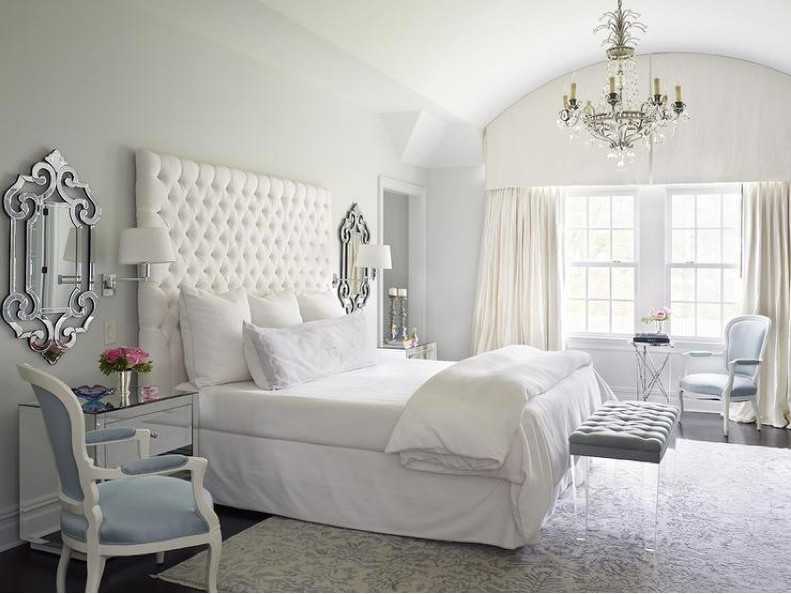 Tall Headboards On Tufted White King Size Headboard Katie By Design Via Atticmag