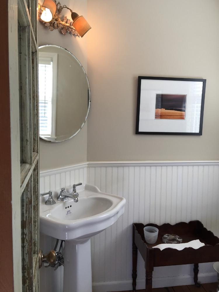 Powder Room Jane S Redone With Farrow Ball Stony Ground Wall Color