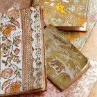 collectible paper - notebooks covered with 18th century domino hand printed decorative paper - World of Interiors via Atticmag