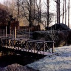 mild winter garden - rustic oak bridge leading to the potager on a Wye Valley estate garden - House&Garden via Atticmag