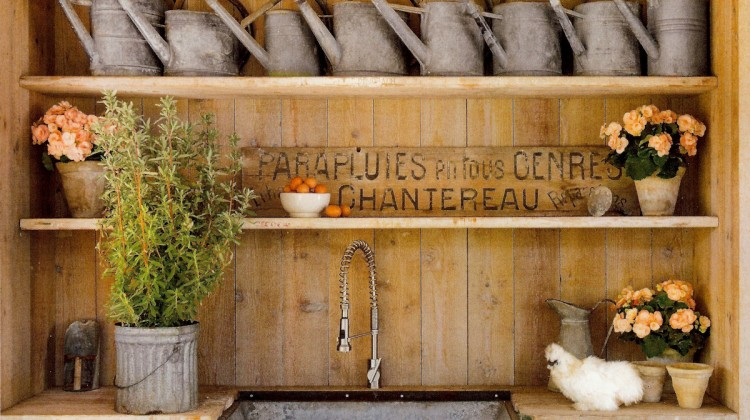 agrarian utility sink wall by Steve and Brooke Giannetti - Veranda via Atticmag
