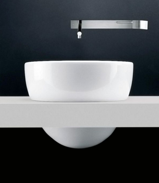 exotic bathroom sinks - Claudio Silvestrin's I Fiumi ceramic sink for Boffi - Boffi via Atticmag