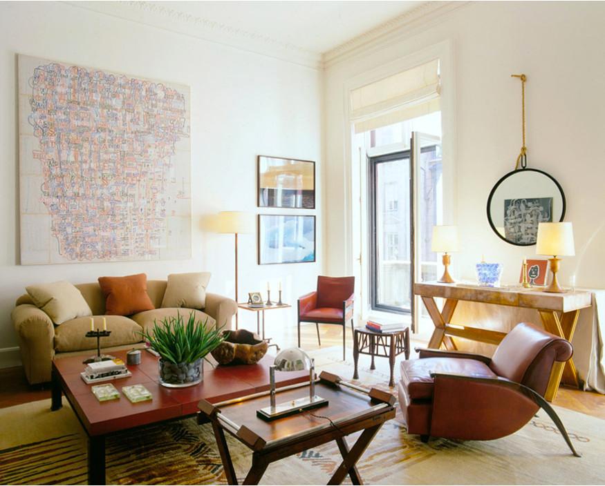 home décor trends - original living room in a Manhattan apartment - Robert Stilin via Atticmag