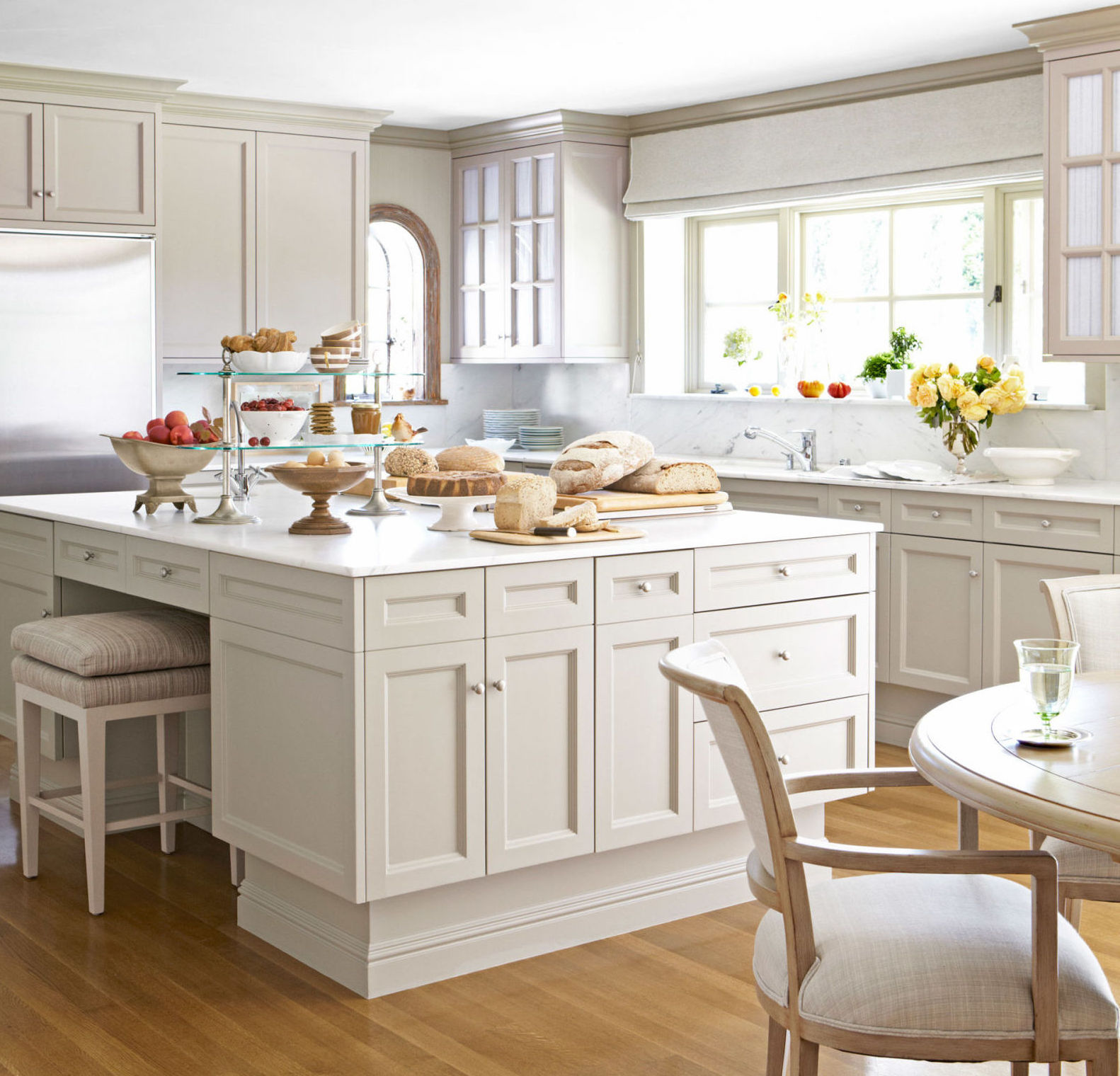 Pale Neutral Kitchens Atticmag - Light grey green kitchen cabinets