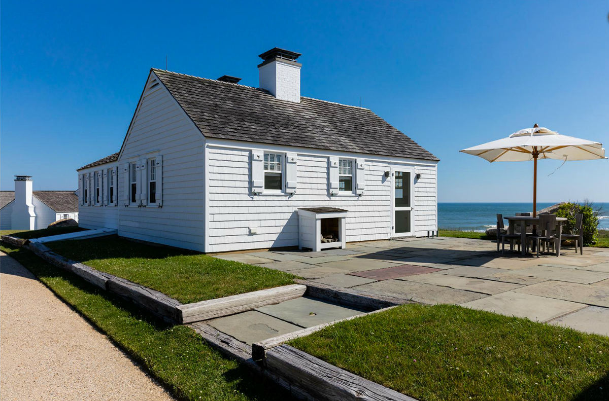 Andy Warhol beach house - outside one of the cottages at Eothen in Montauk Long Island - Gotham Photo Company via Atticmag