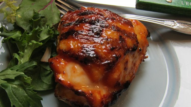 barbecue sauce - barbecued chicken thigh glazed with homemade cider-vinegar and ketchup based 50 year old heirloom bbq sauce - Atticmag