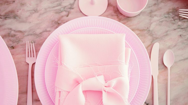 "fashionable Christmas - White Fluted dinnerware goes candy sweet and blush pink for Charlotte Eskildsen's ""think pink"" Christmas inspiration - Royal Copenhagen via Atticmag"