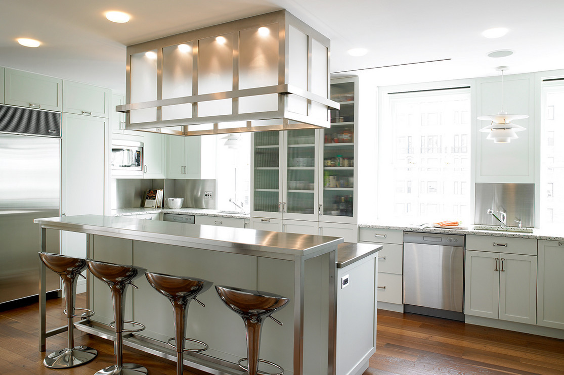 Pale Green Kitchens