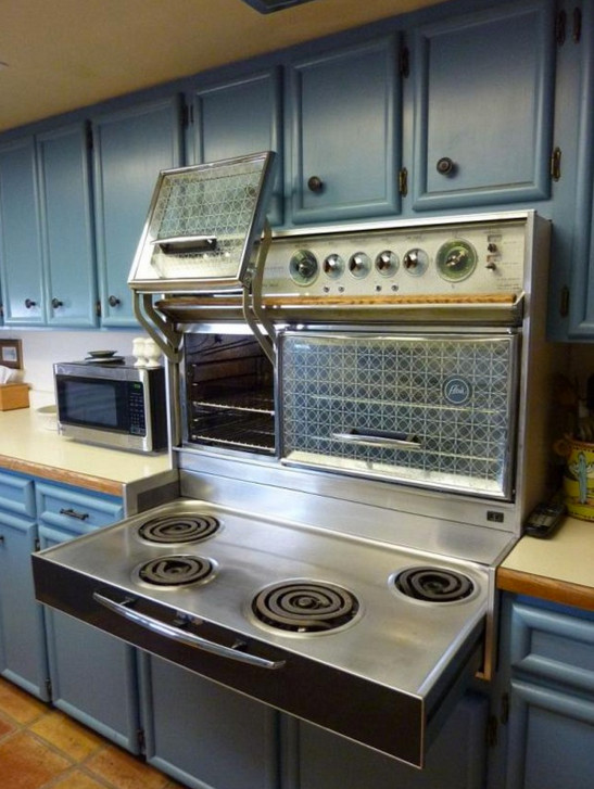 kitchen character can be created by using a vintage range like this 1980 Frigidaire Custom Imperial Flair - gardenweb via atticmag
