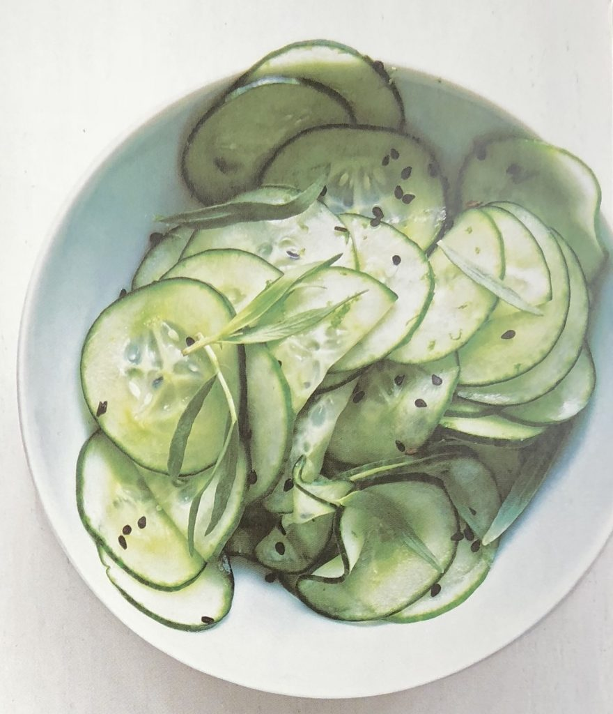 cucumbers with black sesame seeds and sweet lime vinegar from Saladish - Atticmag