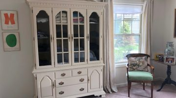 repurposed dining room china cabinet - Atticmag