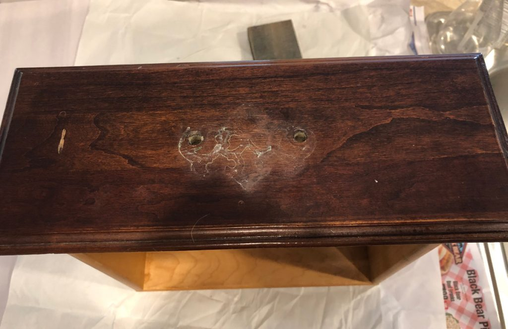repurposed china cabinet drawer with hardware removed - Atticmag