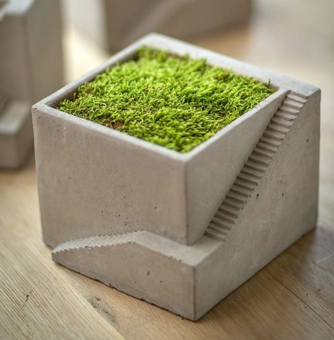 mini single compartment architectural planter by Vagabond Vintage - via Atticmag